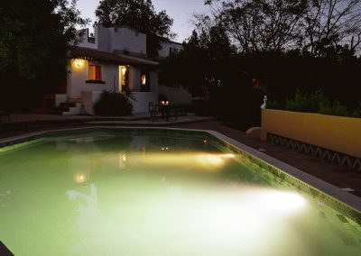 Pool and Carob Suite at night